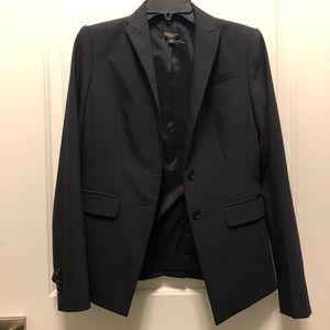 Ann Taylor Black Pinkstripe Blazer Suit Jacket 0